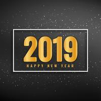 Happy New Year 2019 modern background vector