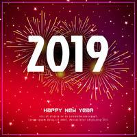 Fond de voeux élégant nouvel an 2019