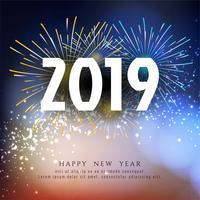 Stylish New Year 2019 greeting background