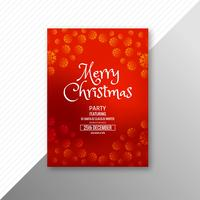 Beautiful festival merry christmas flyer template design