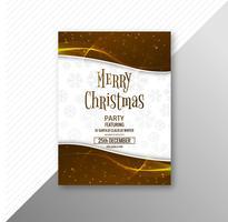Plantilla de folleto de tarjeta de feliz Navidad celebración