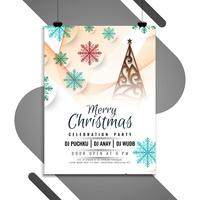 Abstract Merry Christmas elegant flyer template