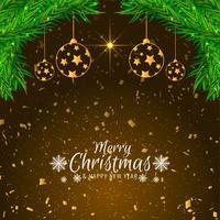 Stylish decorative Merry Christmas background