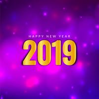 Elegant Happy New Year 2019 greeting background