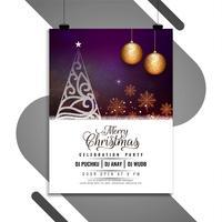 Merry Christmas celebration brochure template