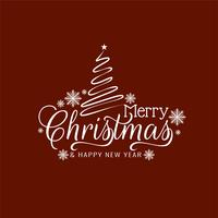Elegant Merry Christmas greeting text background