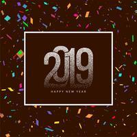 Elegant New Year 2019 decorative background