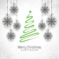 Abstract Merry Christmas tree decorative background