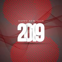 Abstract Happy New Year 2019 greeting background