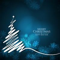 Stylish Merry Christmas festival greeting background