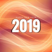 Abstract New Year 2019 celebration background