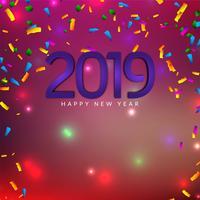 Feliz año nuevo fondo decorativo 2019