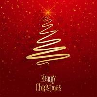 Vacker glatt julgran fest bakgrund vektor