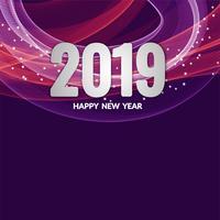 Elegant modern New Year 2019 background
