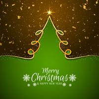 Elegant Merry Christmas greeting background