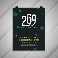 Feliz año nuevo 2019 plantilla de fiesta de celebración