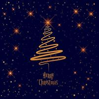 Vrolijke Kerstmisboom met kaartachtergrond