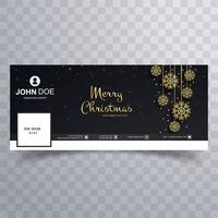Merry christmas card design de modelo de banner do facebook