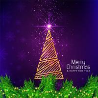 Fundo decorativo elegante de feliz Natal
