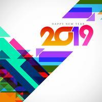 Fondo de saludo elegante feliz año nuevo 2019
