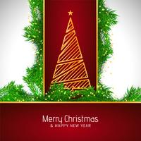 Abstract Merry Christmas beautiful celebration background vector