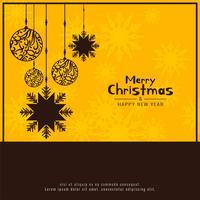 Abstrait joyeux Noël décoratif fond de fête