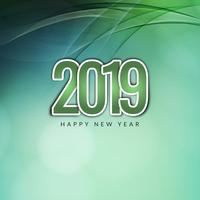 Resumen feliz año nuevo 2019 fondo moderno