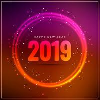Resumen feliz año nuevo 2019 elegante fondo