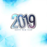 Happy New Year 2019 colorful greeting background