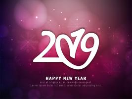 Abstract Happy New Year 2019 modern background vector