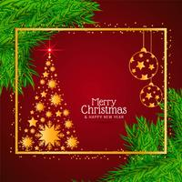 Stylish decorative Merry Christmas background