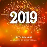 Feliz año nuevo 2019 elegante fondo