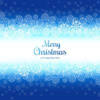 Merry christmas snowflake card background vector
