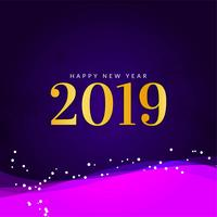 Abstract modern New Year 2019 decorative background