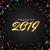 Dekorativer Hintergrund des guten Rutsch ins Neue Jahr 2019