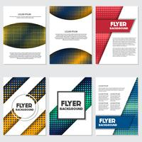 halftone Flyer style background Design Template