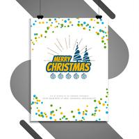 Abstract Merry Christmas decorative brochure design
