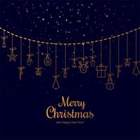 Merry christmas greeting card decorative background