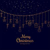 Fondo decorativo de la tarjeta de felicitación de la Feliz Navidad