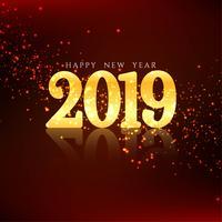 Happy New Year 2019 elegant background