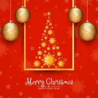Abstract decorative Merry Christmas background