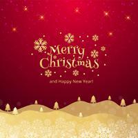Beautiful merry christmas celebration card background