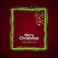 Merry Christmas elegant decorative background