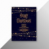 Merry christmas celebration card brochure template