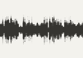 Vector halftone sound wave design.