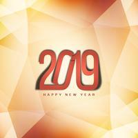 Happy New Year 2019 decorative elegant background