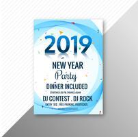Bella 2019 flyer celebrazione festa modello di progettazione