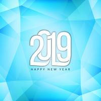 Eleganter dekorativer Hintergrund des neuen Jahres 2019