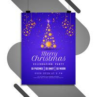 Abstract Merry Christmas party flyer template