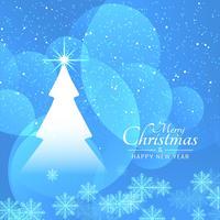 Feliz celebración del festival de Navidad saludo fondo